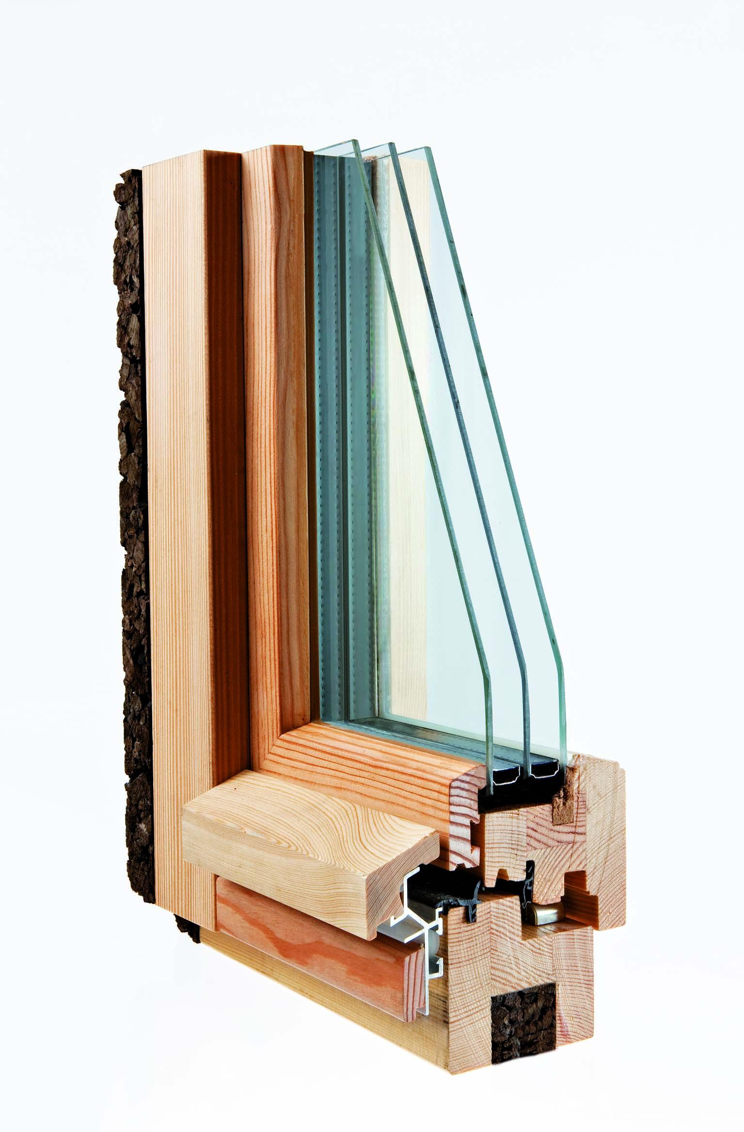 fenêtre passive en bois