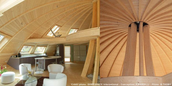 La maison colo de la semaine le blog des mat riaux de for Maison dome en bois